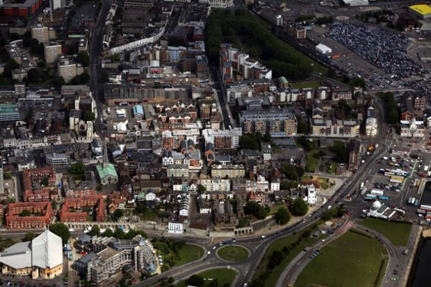 Southampton from the air