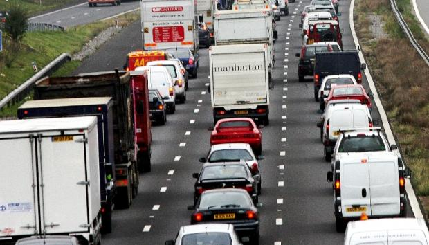Car crash shuts motorway