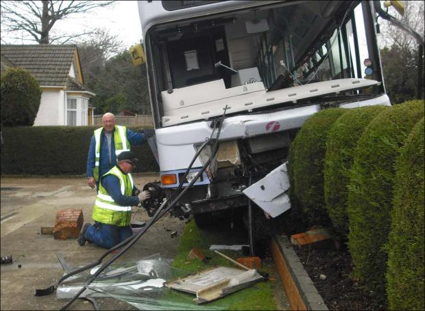 Passengers injured in bus crash drama