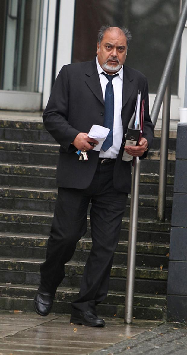 FINED: Landlord Kenth outside court.