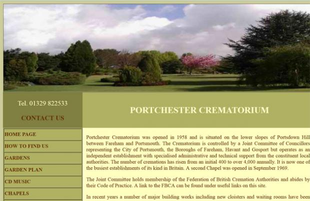 Portchester Crematorium website.