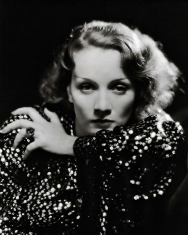 Marlene Dietrich, star of Stage Fright