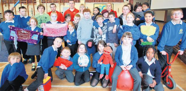 Children and helpers at the after-school club at Heathfield Junior School