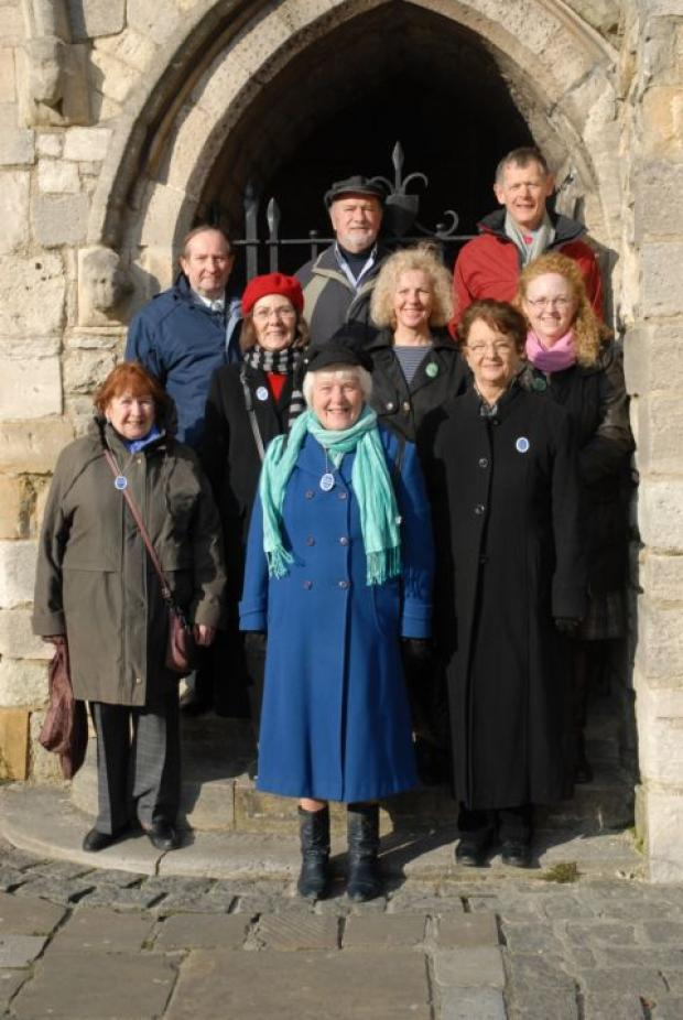 Southampton's tourist guides at the Bargate - picture by Derek Callaghan