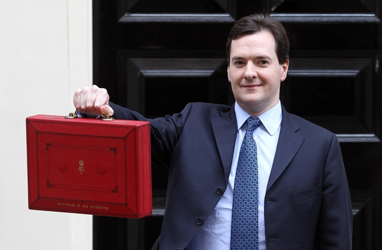 What does Chancellor George Osborne have in his b