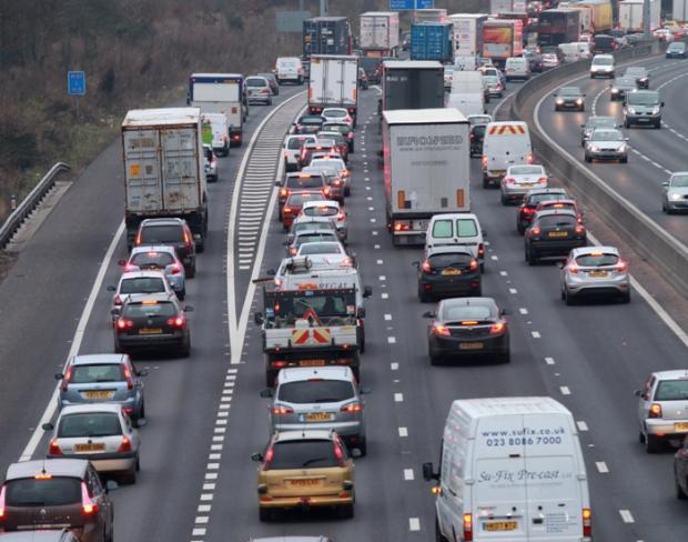 Major delays after two-car crash on motorway