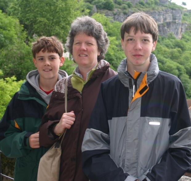 Jane O'Brien with her sons George and Henry, shortly before George died.