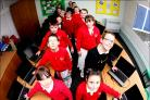 Fairisle Junior School pupils at their computers.