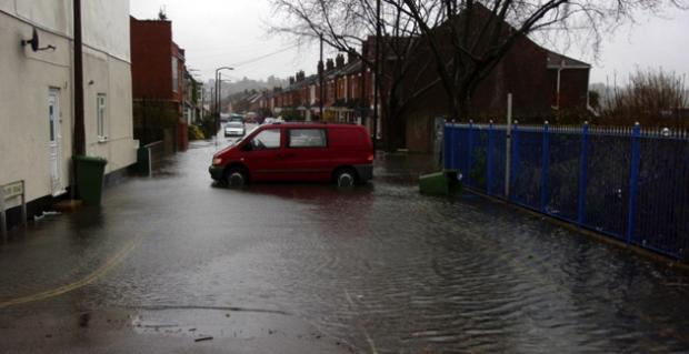 Daily Echo: A flood in Priory Road, Southampton