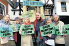 ENERGETIC CAMPAIGN: Members of the Save Barton Farm group.