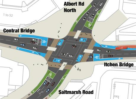 This is how the junction was meant to look according to the initial plans