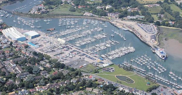 Lymington from above