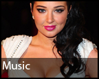 The Daily Echo's Music section, with a picture of Tulisa