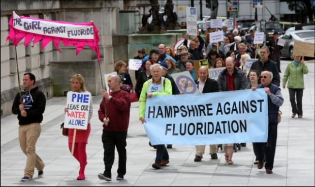 PROTEST: demonstrators take to the streets of Southamton