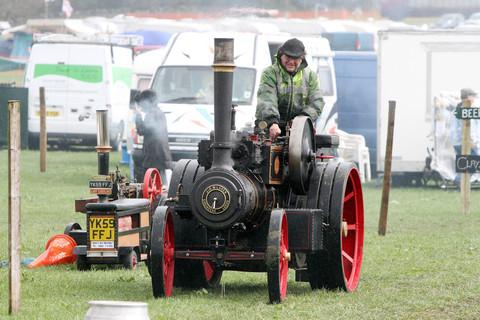 A steam engine similar to this one pictured damaged a hydrant in Itchen Abbas leaving 10 homes without water