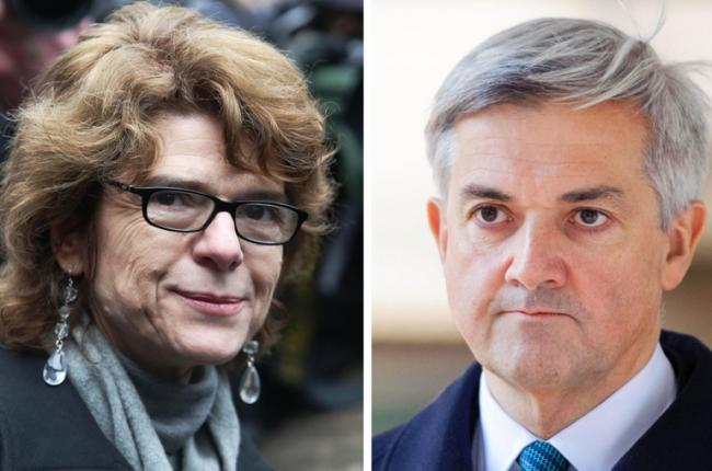 Chris Huhne and fomer wife Vicky Pryce