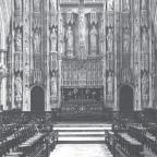Inside Winchester Cathedral, where the concert was being staged