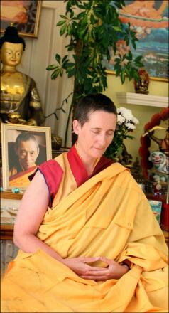 Buddhist teacher and nun Gen Kelsang Lekma