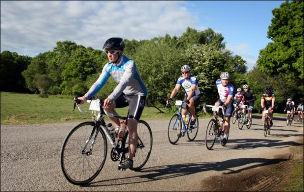Daily Echo: Picture from the Wiggle New Forest Spring Sportive cycle.