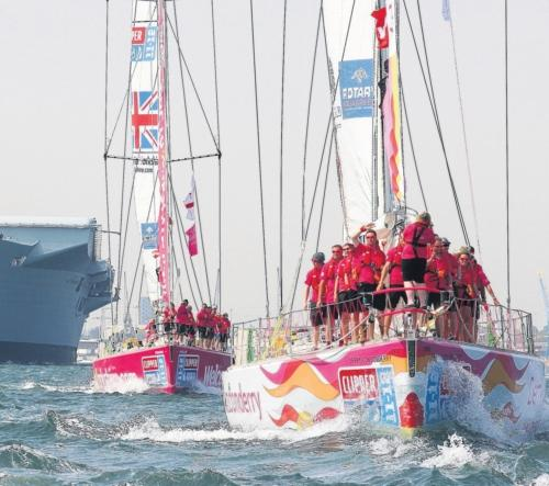 Daily Echo: SPECTACULAR: The last Clipper Race setting off from Southampton.