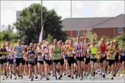 Runners at the Lordshill 10k start