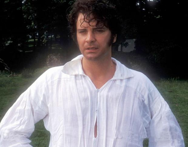 Daily Echo: Colin Firth as Mr Darcy in the TV adaptation of Pride and Prejudice.