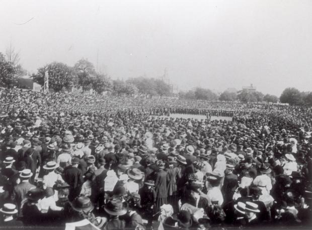 Daily Echo: Thousands gathered in May 1910 at the Marlands for a memorial service following the death of King Edward VII.