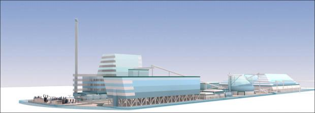 One of the proposed desgins for the Southampton biomass plant