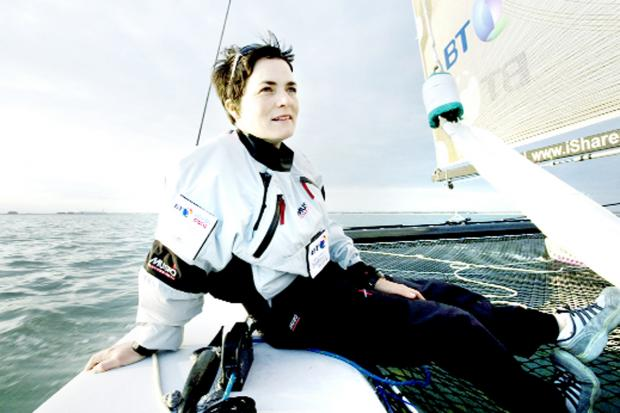Dame Ellen MacArthur gives Natasha Lambert a send off