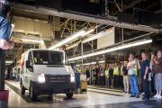 The final transit van rolls of production line in Southampton