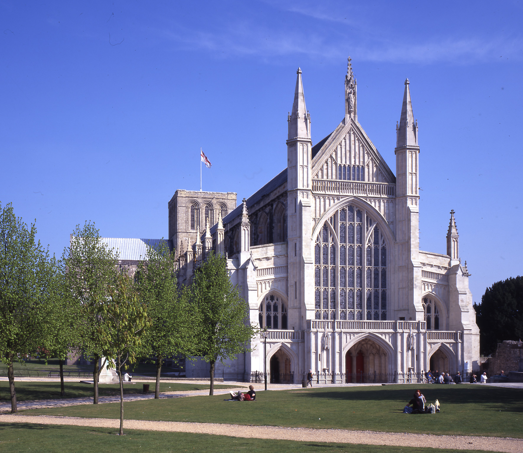 Fire crews were called to Winchester Cathedral last night