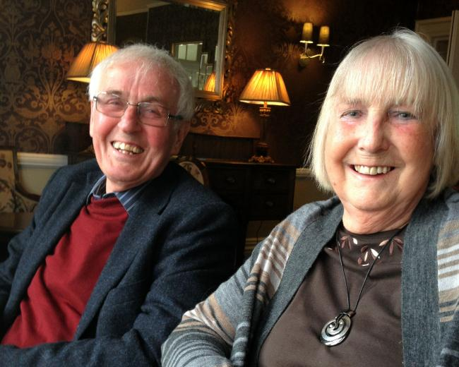 Professor Colin Pritchard and his wife Beryl.