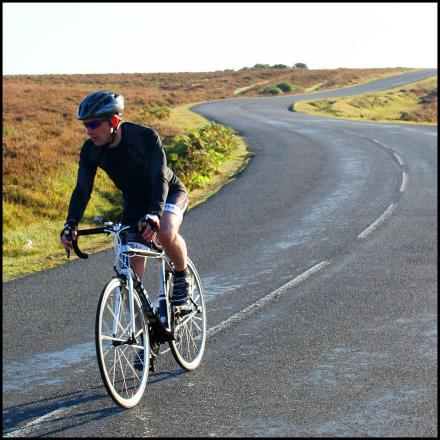 A cyclist in the New Forest