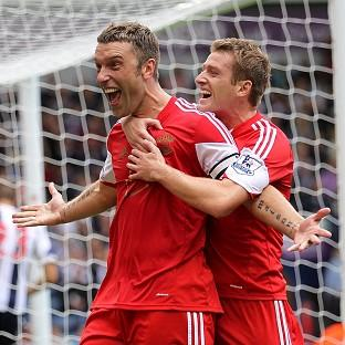 Daily Echo: Rickie Lambert was on target from the spot for Southampton to follow up his international heroics from midweek