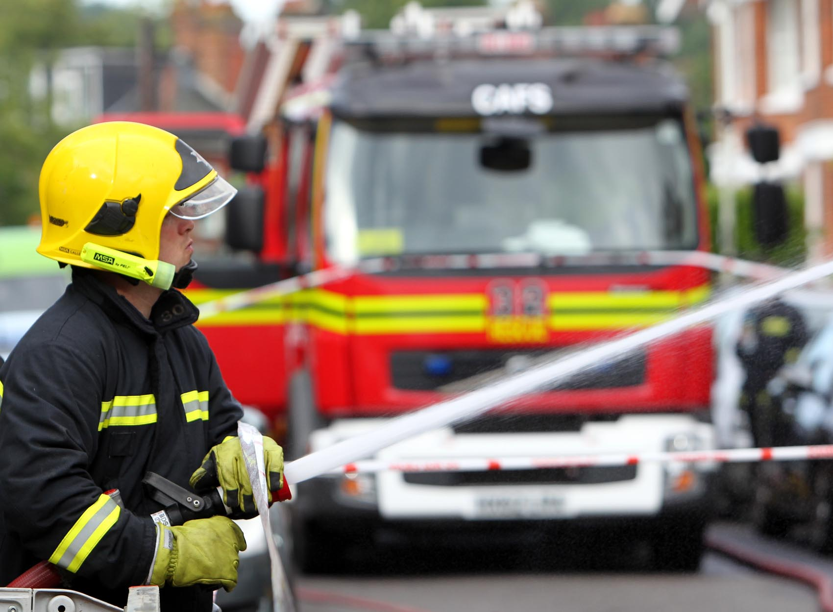 Two taken to hospital in Southampton fire drama