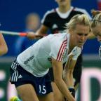 Daily Echo: Alex Danson in action against Germany.