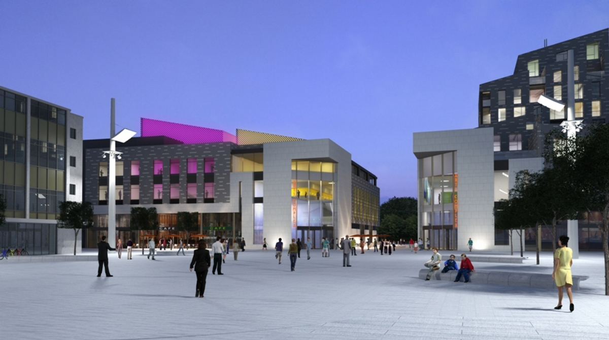 An artist's impression of the arts complex.