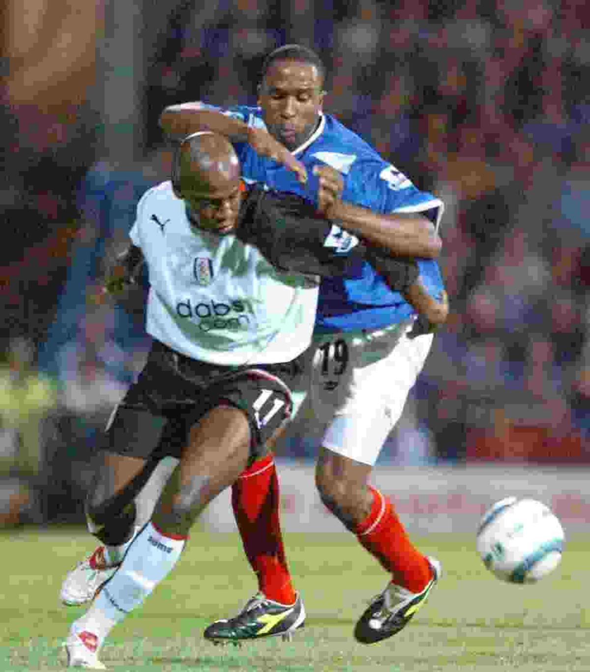 Luis Boa Morte in action for Fulham