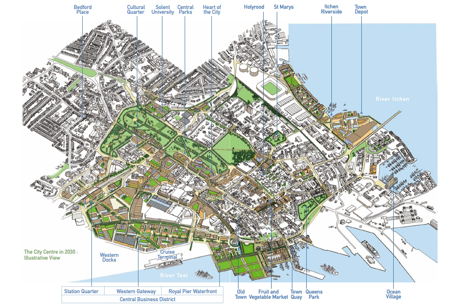 Southampton City Council finalises city masterplan for 2030 ahead of