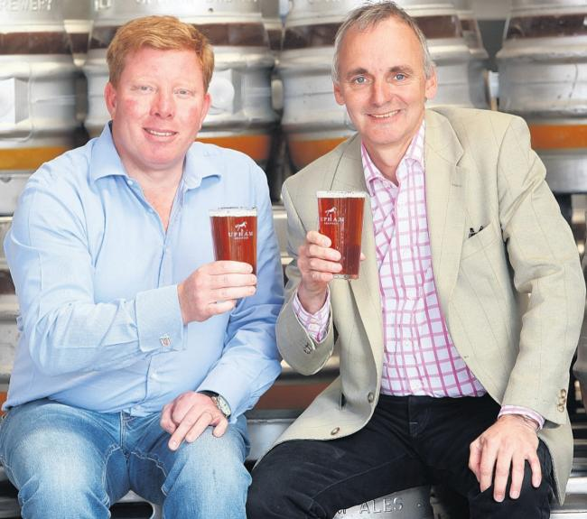 LOCAL CONNECTION: Director David Butcher and CEO Chris Phillips, of Upham Ale Company.