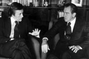 Sir David Frost with former US president Richard Nixon