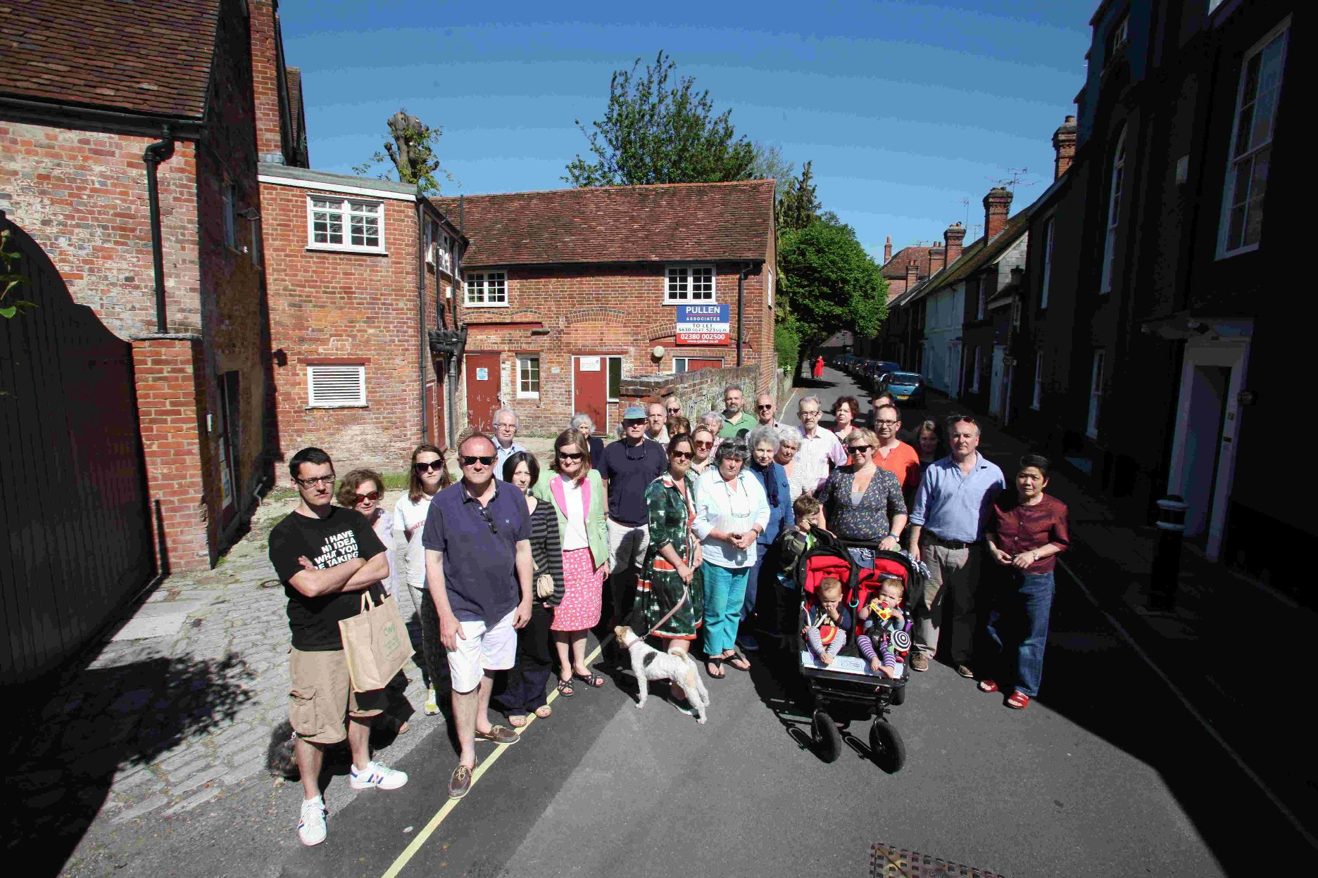 esidents in Colebrook Street, Winchester, back in June who were angry at plans to turn Abbey Mill into a River Cottage Restaurant