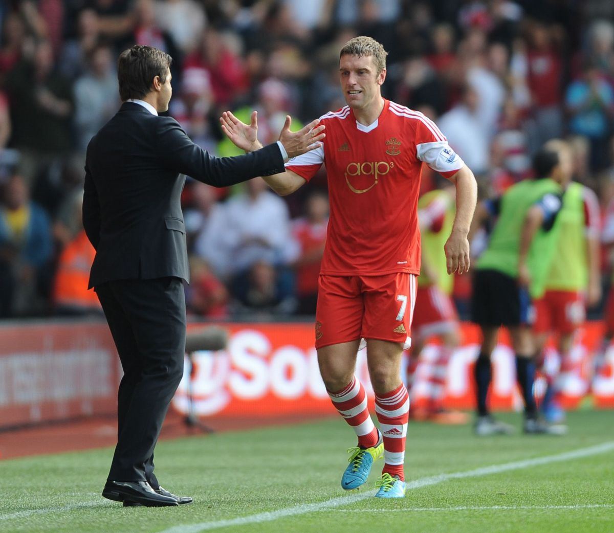 Mauricio Pochettino with Rickie Lambert