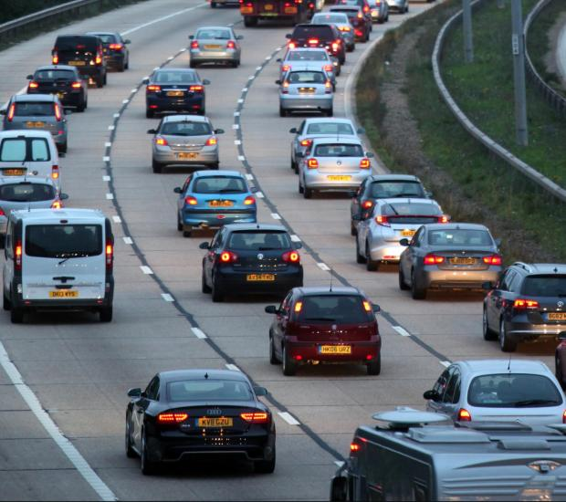 Six vehicle crash causing tailbacks on motorway