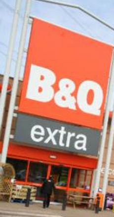 The gang targeted B&Q stores