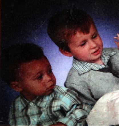 Jayden Adams, 2, left, and his brother Bradley Adams, aged 4, right.