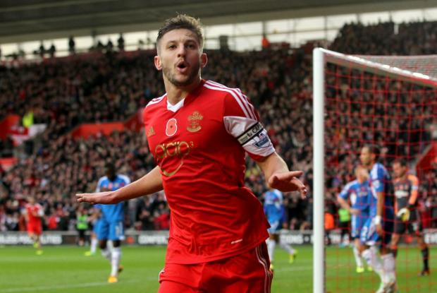 Daily Echo: Adam Lallana celebrates his wonder goal against Hull