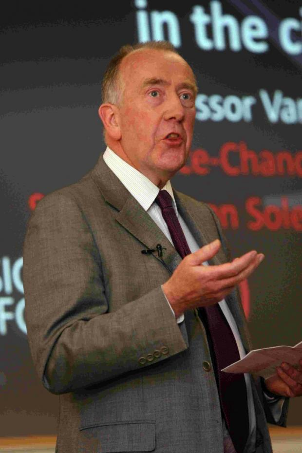 Daily Echo: Professor Van Gore – vice-chancellor of Southampton Solent University.