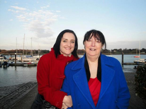 Daily Echo: Rebecca Hayward with her mother Jeannie