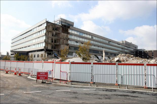 The Ordnance Survey being demolished last year